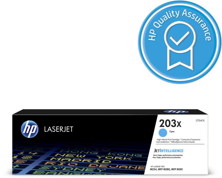 HP CF541X no. 203X (2500 str.), cyan