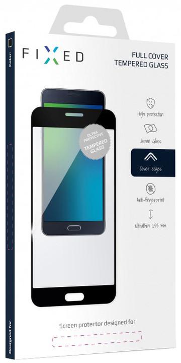 FIXED Full-Cover ochranné tvrzené sklo pro Samsung Galaxy A8 Plus (2018), černé, 0.33 mm