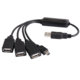 PremiumCord USB2.0 HUB 4-portový kabel, černá