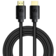BASEUS kabel HDMI 2.1, M/M, 8K, 3m, černá