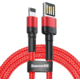 BASEUS kabel Cafule USB-A - Lightning, nabíjecí, datový, 1.5A, 2m, červená