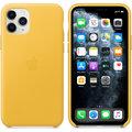 Apple kožený kryt na iPhone 11 Pro, hřejivě žlutá