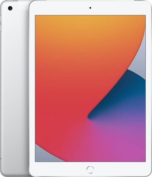 "Apple iPad 2020 (8. gen.), 10,2"", 128GB, Wi-Fi + Cellular, Silver"