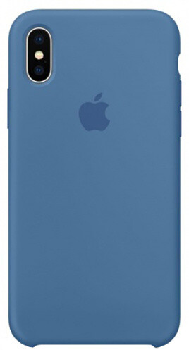 Apple silikonový kryt na iPhone X, džínově modrá