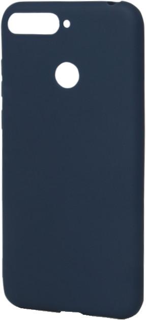 EPICO pružný plastový kryt pro Huawei Y6 Prime (2018) SILK MATT, modrý