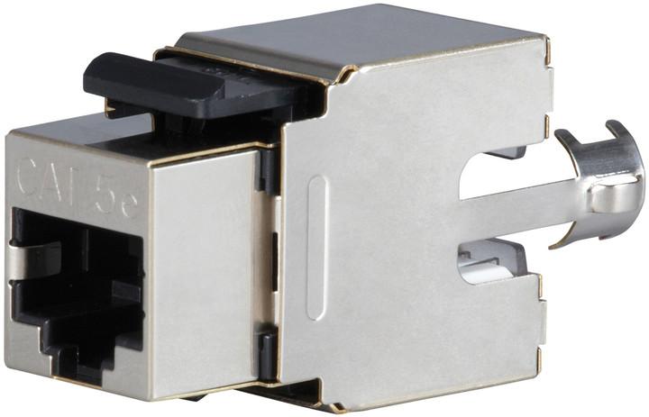 Solarix zařezávací keystone CAT5E STP RJ45 SXKJ-5E-STP-BK