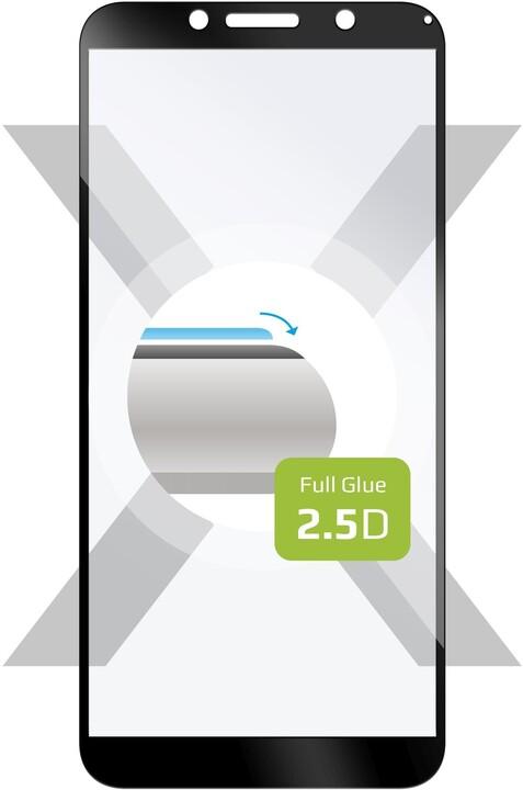 FIXED ochranné tvrzené sklo Full-Cover pro Motorola Moto E6 Play, lepení přes celý displej, černá