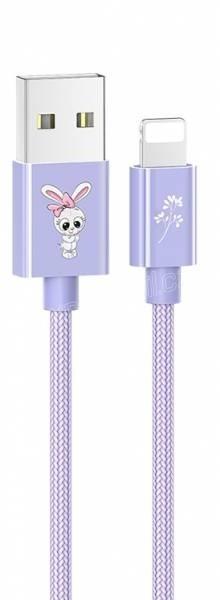 USAMS SJ234 U8 Lovely Lightning datový kabel (EU Blister), fialová