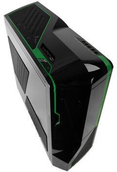 NZXT Phantom, černá se zelenými pruhy