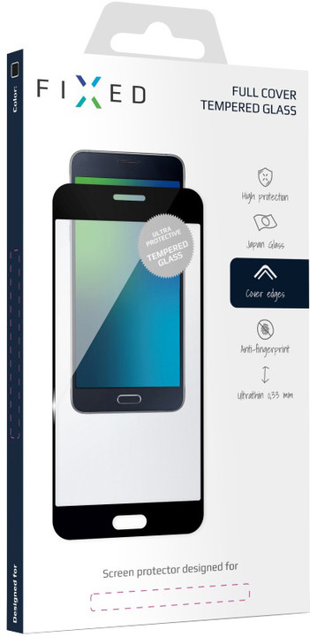 FIXED Full-Cover ochranné tvrzené sklo pro Nokia 6, přes celý displej, černé