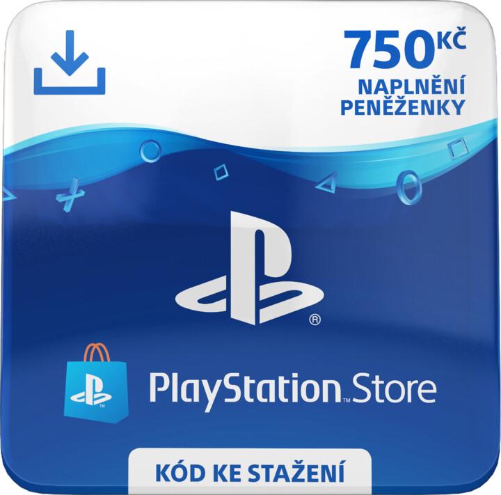 PlayStation Store naplnění peněženky 750 Kč - elektronicky