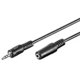 PremiumCord prodlužovací Jack 3.5mm M/F - 5m