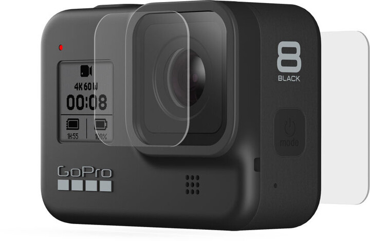 GoPro Tempered Glass Lens + Screen Protectors pro HERO 8 Black