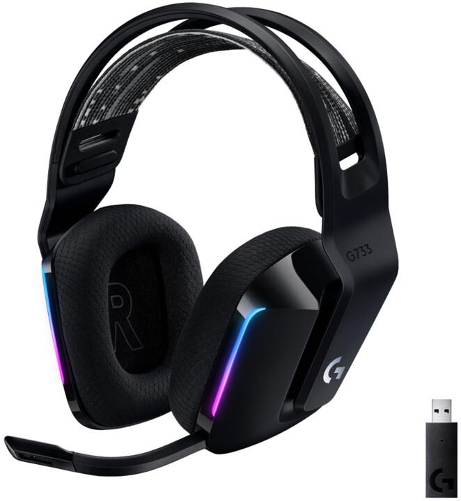 Logitech G733 Lightspeed, černá