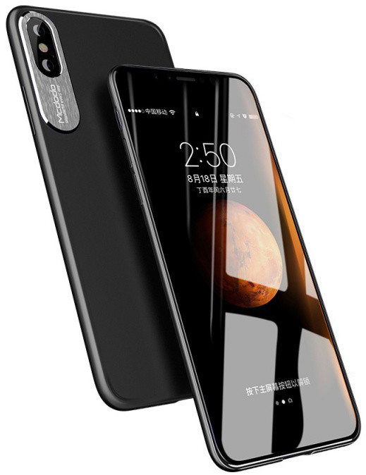 Mcdodo iPhone X Sharp Aluminum Alloy Case (Aluminum Alloy + PC), Black