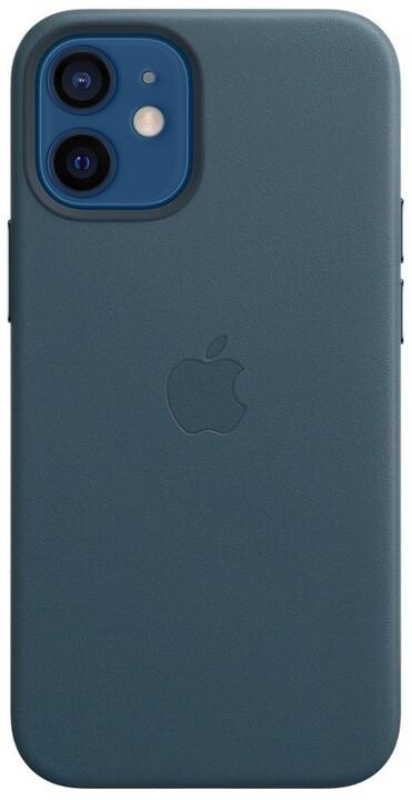 Apple kožený kryt s MagSafe pro iPhone 12 mini, modrá