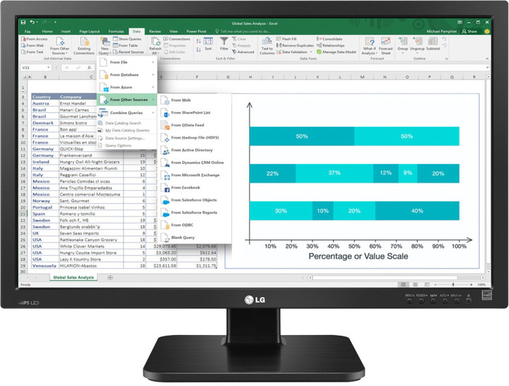 """LG 24BK55WD - LED monitor 24"""""""