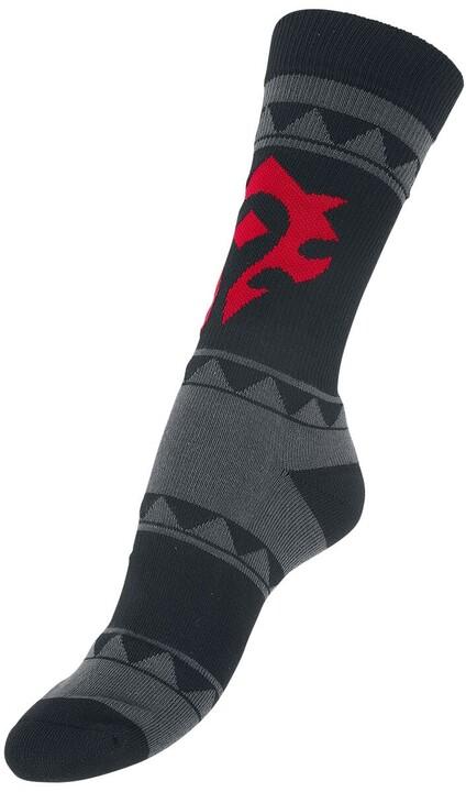 Ponožky World of Warcraft - Horde, černé