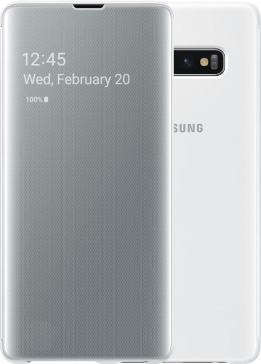 Samsung Clear View flipové pouzdro pro Samsung G975 Galaxy S10+, bílá