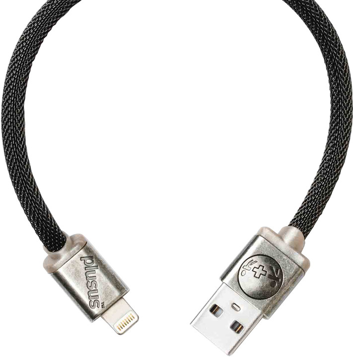 PlusUs LifeStar Designer USB Charge & Sync cable Lightning - Dark Grey