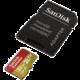 SanDisk Micro SDHC Extreme 32GB 100MB/s A1 UHS-I U3 V30 pro akční kamery + SD adaptér