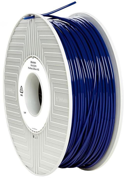 Verbatim tisková struna (filament), PLA, 2,85mm, 1kg, modrá