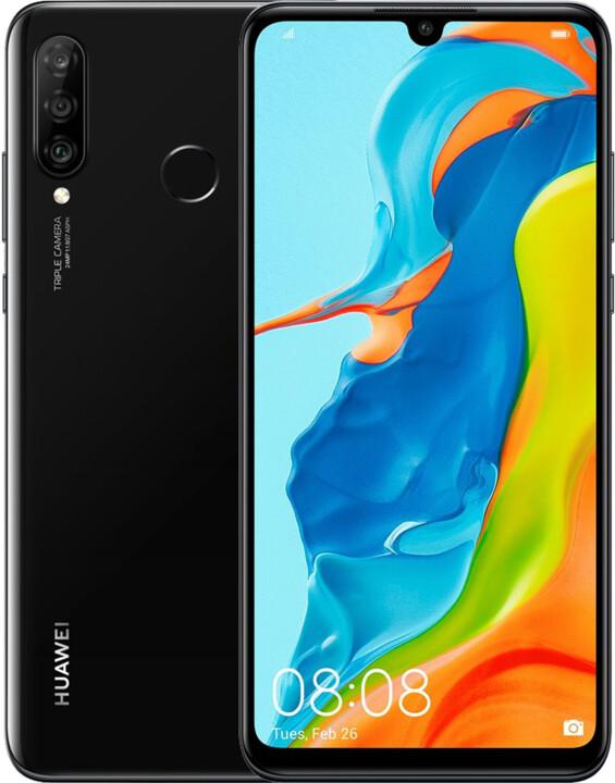Huawei P30 Lite, 4GB/64GB, Midnight Black