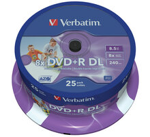 Verbatim DVD+R Printable DL 8x 8,5GB spindle 25ks - 43667