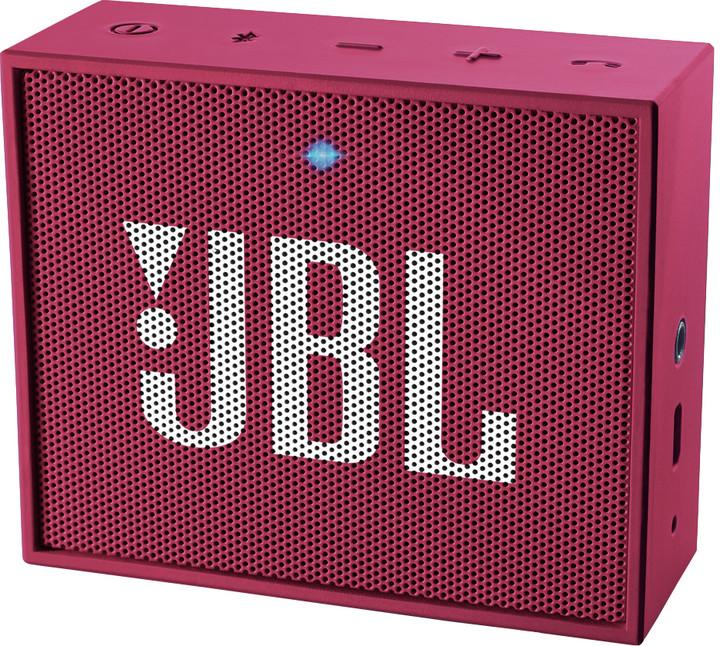 JBL GO, růžová
