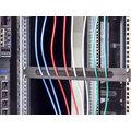 """Triton průchozí panel RAB-ZP-X03-A3, 19"""", 1U, 350x21mm, horizontálně rozdělený, černý"""