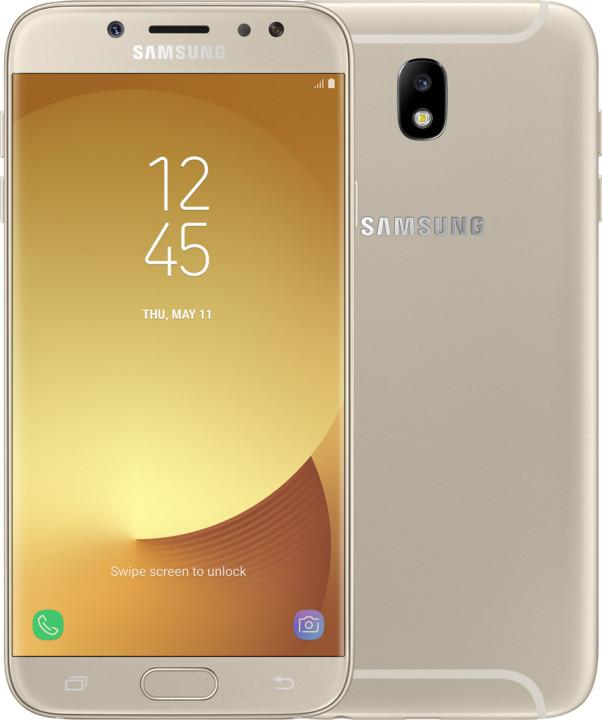 Samsung Galaxy J7 2017, Dual Sim, LTE, 3GB/16GB, zlatá
