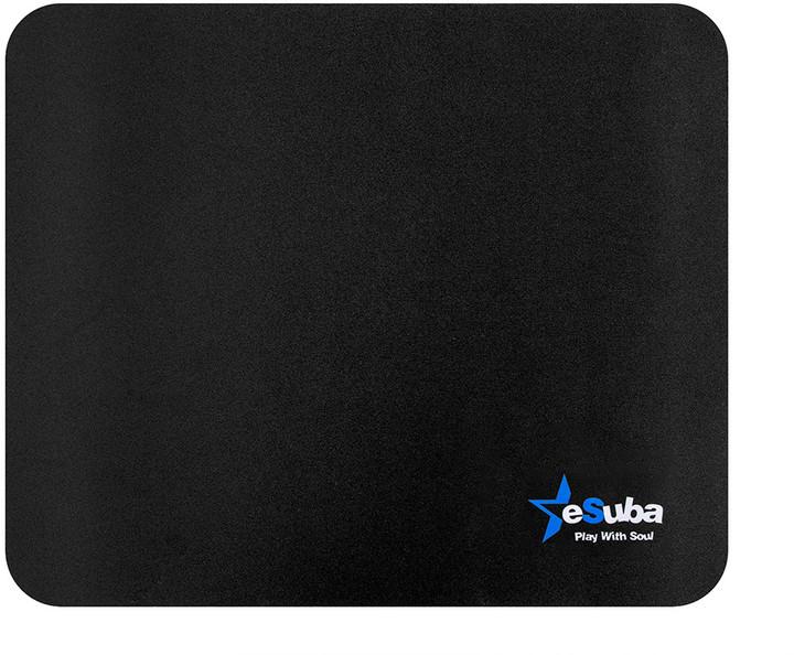 eSuba herní podložka L, látková, černá