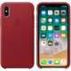 Apple kožený kryt na iPhone X (PRODUCT)RED, červená