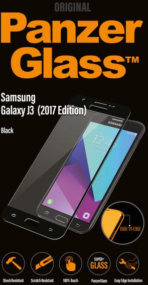 PanzerGlass Edge-to-Edge pro Samsung Galaxy J3 (2017), černé
