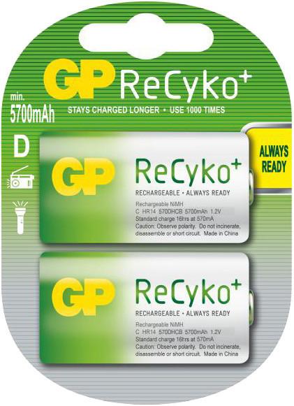 GP, nabíjecí HR20 Recyko+ 5700 Ni-MH, 2ks