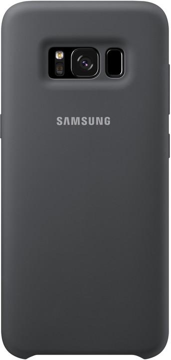 Samsung S8+, silikonový zadní kryt, stříbrno/šedá