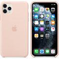 Apple silikonový kryt na iPhone 11 Pro Max, pískově růžová