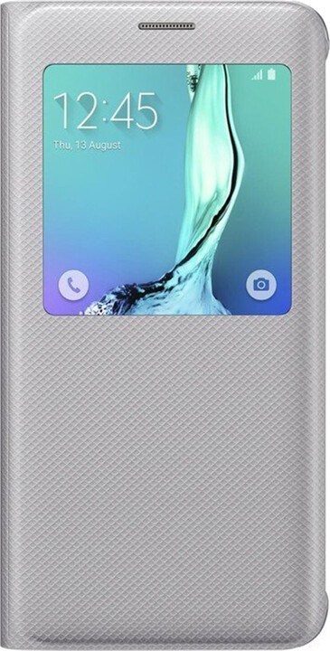Samsung flip S View pouzdro pro S6 Edge+, stříbrná