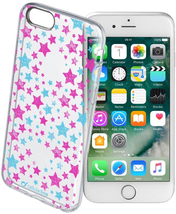 CellularLine STYLE průhledné gelové pouzdro pro iPhone 7, motiv STARS