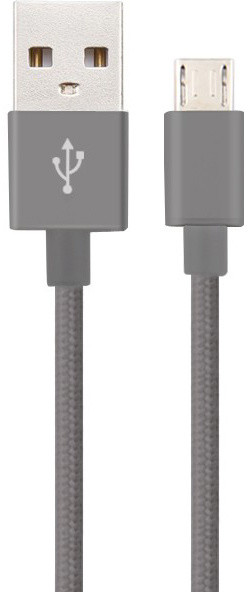 MicroUSB Cable 1m, Grey