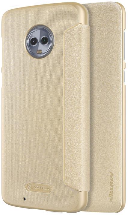 Nillkin Sparkle Folio pouzdro pro Lenovo Moto G6, Gold