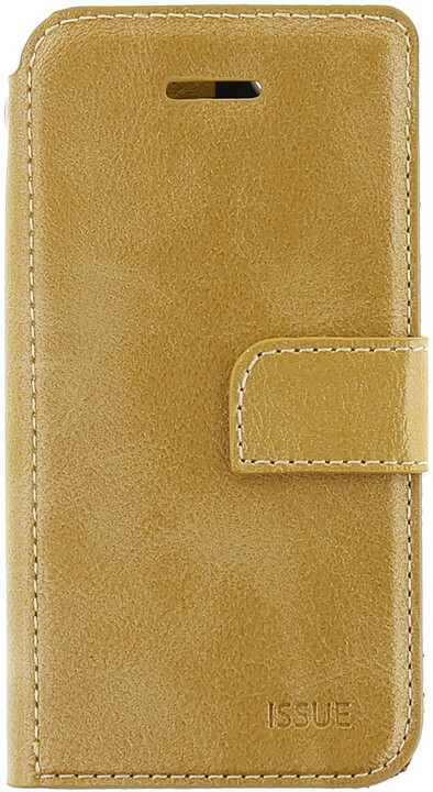 Molan Cano Issue Book Pouzdro pro iPhone 5/5S/SE, zlatá