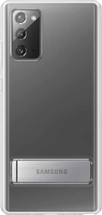 Samsung ochranný kryt Clear Cover pro Samsung Galaxy Note20 se stojánkem, transparentní