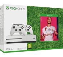 XBOX ONE S, 1TB, bílá + druhý ovladač + FIFA 20