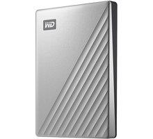 WD My Passport Ultra - 4TB, stříbrná - WDBFTM0040BSL-WESN