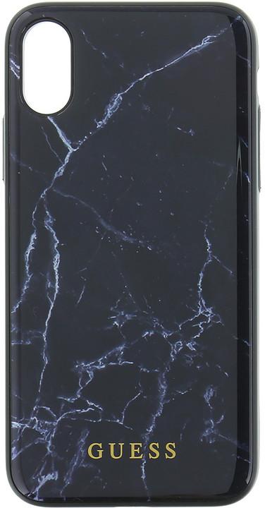 GUESS Marble TPU pouzdro pro iPhone X, Black