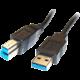 PremiumCord kabel USB 3.0 Super-speed 5Gbps A-B, 9pin, 1m