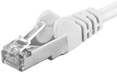 Premiumcord Patch kabel CAT6a S-FTP, RJ45-RJ45, AWG 26/7 0,25m bílá