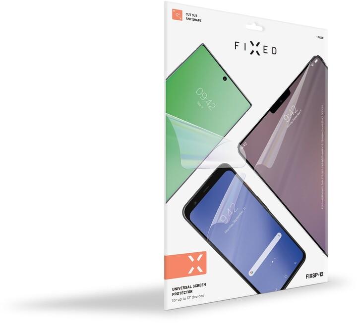 FIXED ochranná fólie pro display 250x185mm, univerzální, čirá