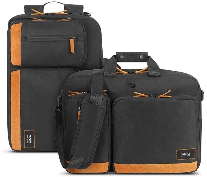 """SOLO NY brašna/batoh DUANE HYBRID pro notebook 15.6"""", černá/oranžová"""